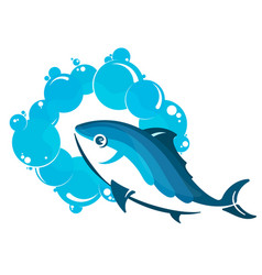 fish in water vector image