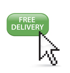 Free delivery button click vector