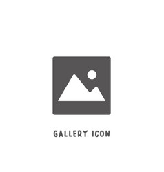 gallery picture icon simple flat style vector image