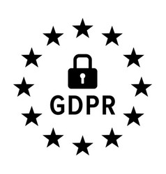 gdpr - general data protection regulation icon vector image