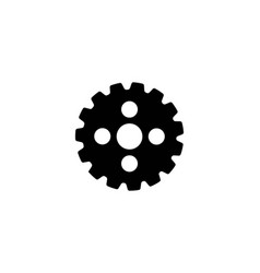 gear icon logo icon vector image
