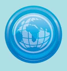 Globe button vector