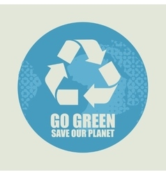 Go Green Eco Recycling Concept vector