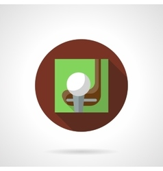 Golf game brown round icon vector