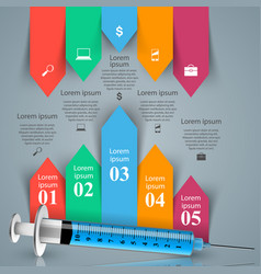health syringe icon 3d medical infographic vector image