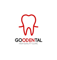 Healthy tooth Logo design template in linear style vector