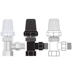 Heating valve with plastic knob vector