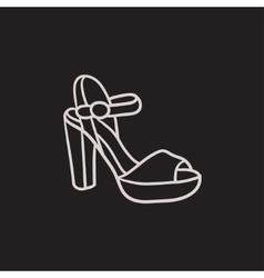 High-heeled sandal sketch icon vector image