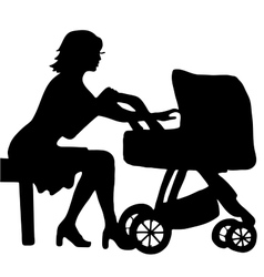 High quality of mother with baby in vector