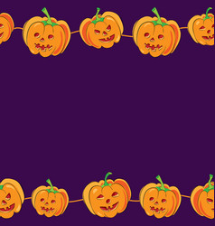 Horizontal seamless halloween banner with vector