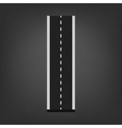 I letter Road font vector image