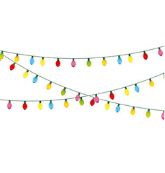 Installation of christmas lights decoration vector
