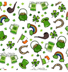 Irish simbols seamless backgroung vector