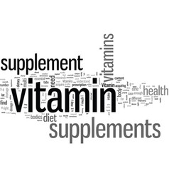 Is vitamins supplements good for you vector