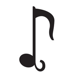 isolated quarter musical note vector image