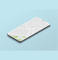 isometric navigation template vector image