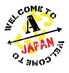 Japan stamp rubber grunge vector