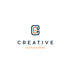 Letter ce creative business logo design vector