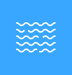 linear water white wave icon vector image