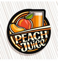 Logo for peach juice vector