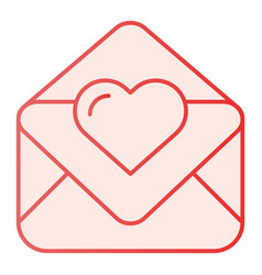 Love letter flat icon valentine card pink icons vector