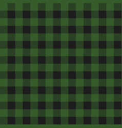 lumberjack plaid dark green seamless pattern vector image