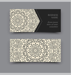 Mandala business card vector