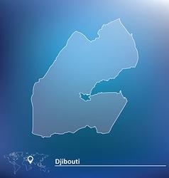 Map of Djibouti vector