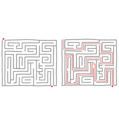 maze labyrinth game square vector image