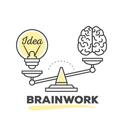 mechanism to compare value of brainwork a vector image