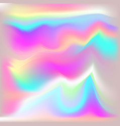 metallic holographic background vector image