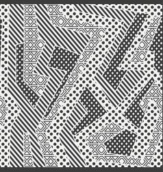 monochrome cloth geometric seamless pattern vector image