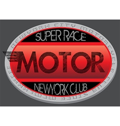 Motorcycle club new york racing motorcycle vintage vector