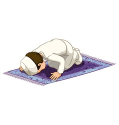 Muslim praying vector