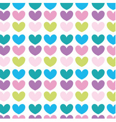 nice hearts shapes decoration background vector image