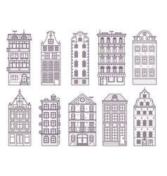 old europe houses and homes set vector image