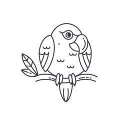 Parrot line icon vector image vector image