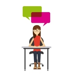 people talk design vector image