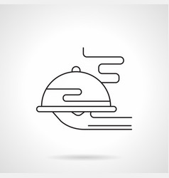 plate with dish flat line icon vector image