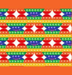 Popit colorful rainbow seamless pattern fidget vector