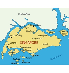 Republic of Singapore - map vector image