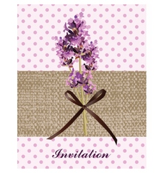 Retro Provence style Lavender Card with flowers vector