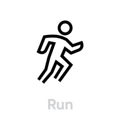 run sport icon vector image