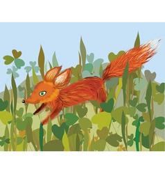 running fox vector image
