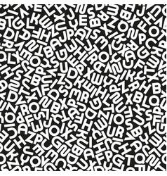 Seamless alphabet pattern with mosaic latin vector