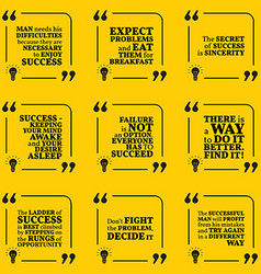 Set motivational quotes about achievement vector