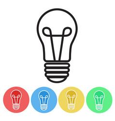 set of bulbs icon button flat design vector image