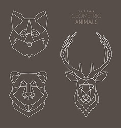 Set of Minimalistic Geometric Animal vector image