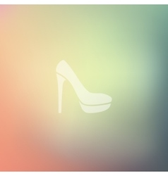 Shoe icon on blurred background vector