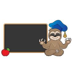 Sloth teacher theme image 2 vector